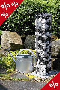 Details zu WASSERZAPFSÄULE Wasserzapfstelle Zapf Säule Wasserstelle Gabione  Garten Bellissa