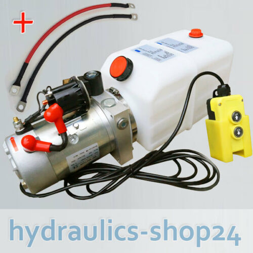 11Liter Hydraulikaggregat, Hydraulik Pumpe 12 V 180bar 2000W LKW Anhänger Kipper