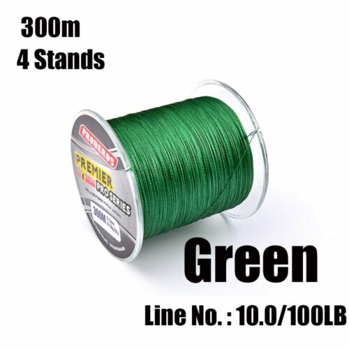 Cord PE Braided 4 Strands Sea Fishing Line Tackle Wire Multifilament Thread
