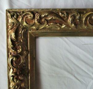 VINTAGE-FITS-12-034-X-18-034-GOLD-GILT-ORNATE-WOODEN-FRAME-FINE-ART-PRIMITIVE