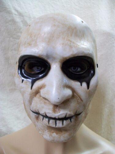 Creepy Empty Eyes Mask Stitch Lips Haunted Horror Nun Purge Rocker Alice Cooper