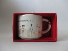 NWT Starbucks 2014 Washington DC Capital You Are Here YAH Collection Ornament
