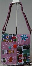 Handtasche Messenger Damen Tasche Umhängetasche Canvas pink rosa bunt NEU