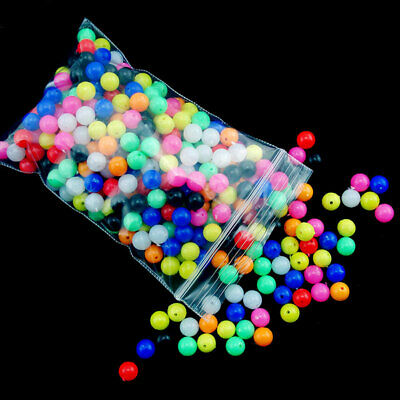 BG/_ 100Pcs 6mm//8mm Round Multicolor Rig Beads Sea Fishing Lure Float Tackles GIL