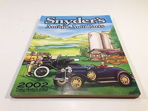 Snyders Model A >> 2002 2003 Snyder S Antique Auto Parts Catalog Ebay
