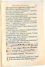 Stampa antica ANTIFONARIO SALTERIO MUSICA CANTO GREGORIANO F.325 1663 Old print