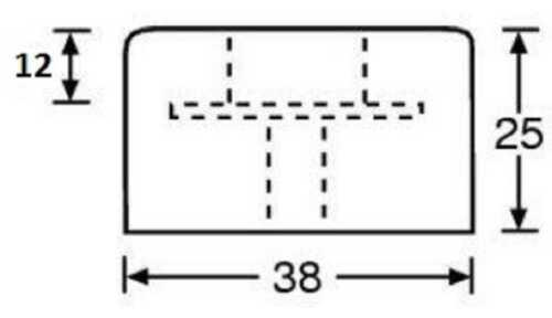 24 Gummifüße Ø 38x25 Lautsprecherfüße Gummifuß Boxenfüße Gehäusefuß Boxenfuß Fuß
