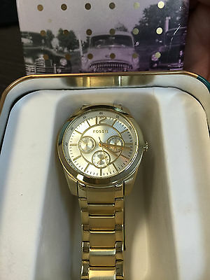 Watches, Parts & Accessories Fossil Bq1554 Brenna Gold Tone Dial Gold Tone Stainless Steel Women's Watch Bright In Colour Wristwatches