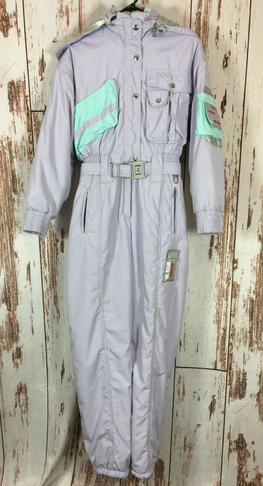 Bogner Thermo System damen Größe 8 lila Insulated Snow Ski Suit Recco