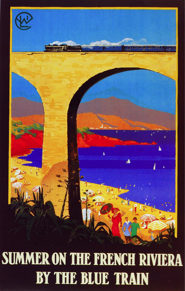 6144. Summer on the French Riviera.Travel POSTER.Interior Wall Art Decorative.
