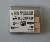 Stampin' Up Sporting Wood Mount Set Of 8 Retired Sports Words