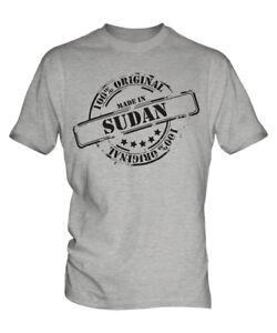 MADE IN SUDAN MENS T-SHIRT GIFT CHRISTMAS BIRTHDAY 18TH 30TH 40TH 50TH 60TH