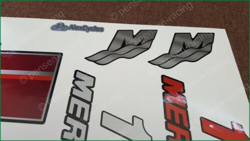 MERCURY Marine 15 HP Outboard Motor REDLaminated Decals Stickers Kit Set Boat