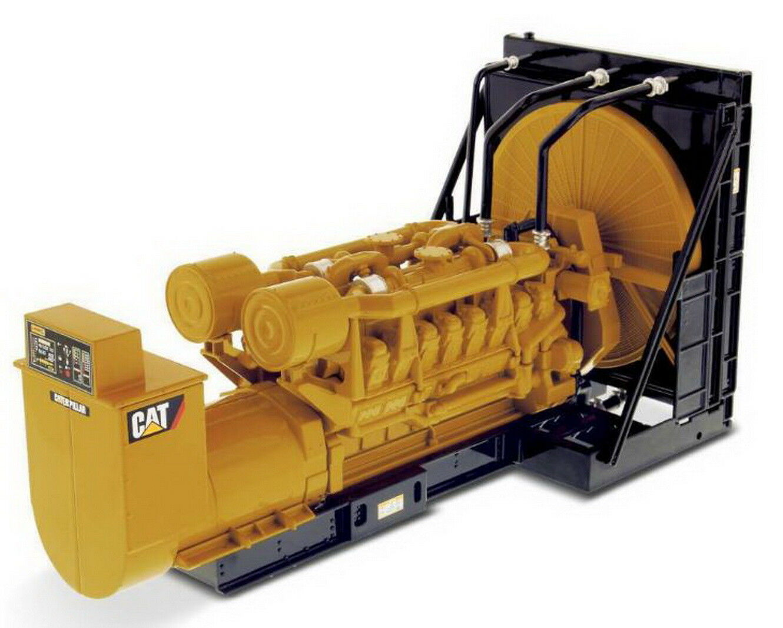 1 25 DM Caterpillar Cat 3516B Verpackungage Generator Set Diecast Modell  85100