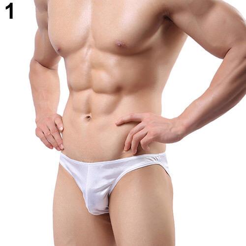 93/% Polyester Size XL 7/% Spandex Slim Fit Shiny White Men's Underwear