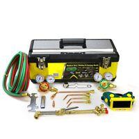 Aluminium Case Victor Type Gas Welding Cutting Kit Oxyacetylene Welding Torch on sale
