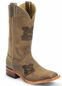 Nocona-MDUM12-Men-039-s-University-Of-Missouri-Brown-Cowhide-Branded-College-Boots