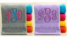 Personalized Bath/Beach Towel with FREE Custom Embroidery ~ Initials Theme ~
