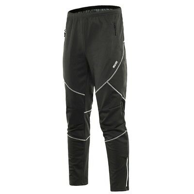 Outdoor Men Thermal Sports Pocket Pants Winter Warmer Running Cycling Trouser