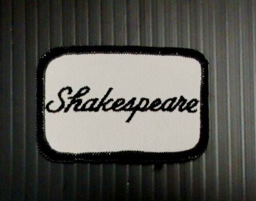 New Vintage Embroidered Shakespeare Patch NOS 1970/'s