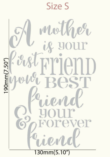 Mother/'s Day STENCIL Quote Words Paint Wall Furniture Cards Reusable Crafts QU93