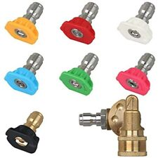 Universal Power Pressure Washer Spray Nozzle Tips And Quick Connect Pivot 180 5