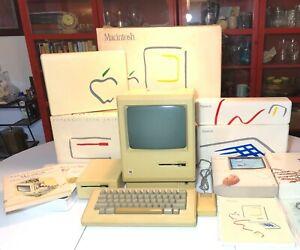 Macintosh 128K M0001 Original Box/External Drive/Picasso Kit FOR REPAIR/READ