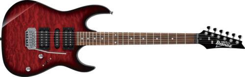 Ibanez GRX70QA-TRB Transparent Red Burst Electric Guitar