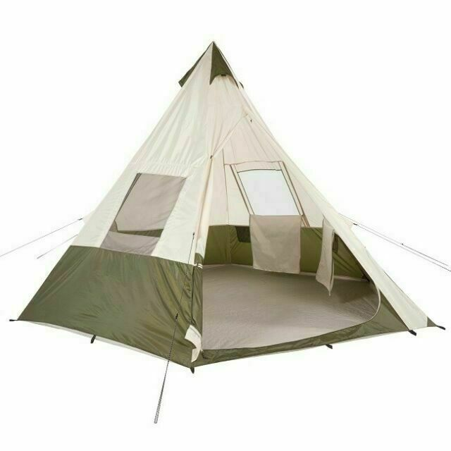 Ozark Trail 7 Person Camping Teepee Tent Green For Sale Online Ebay