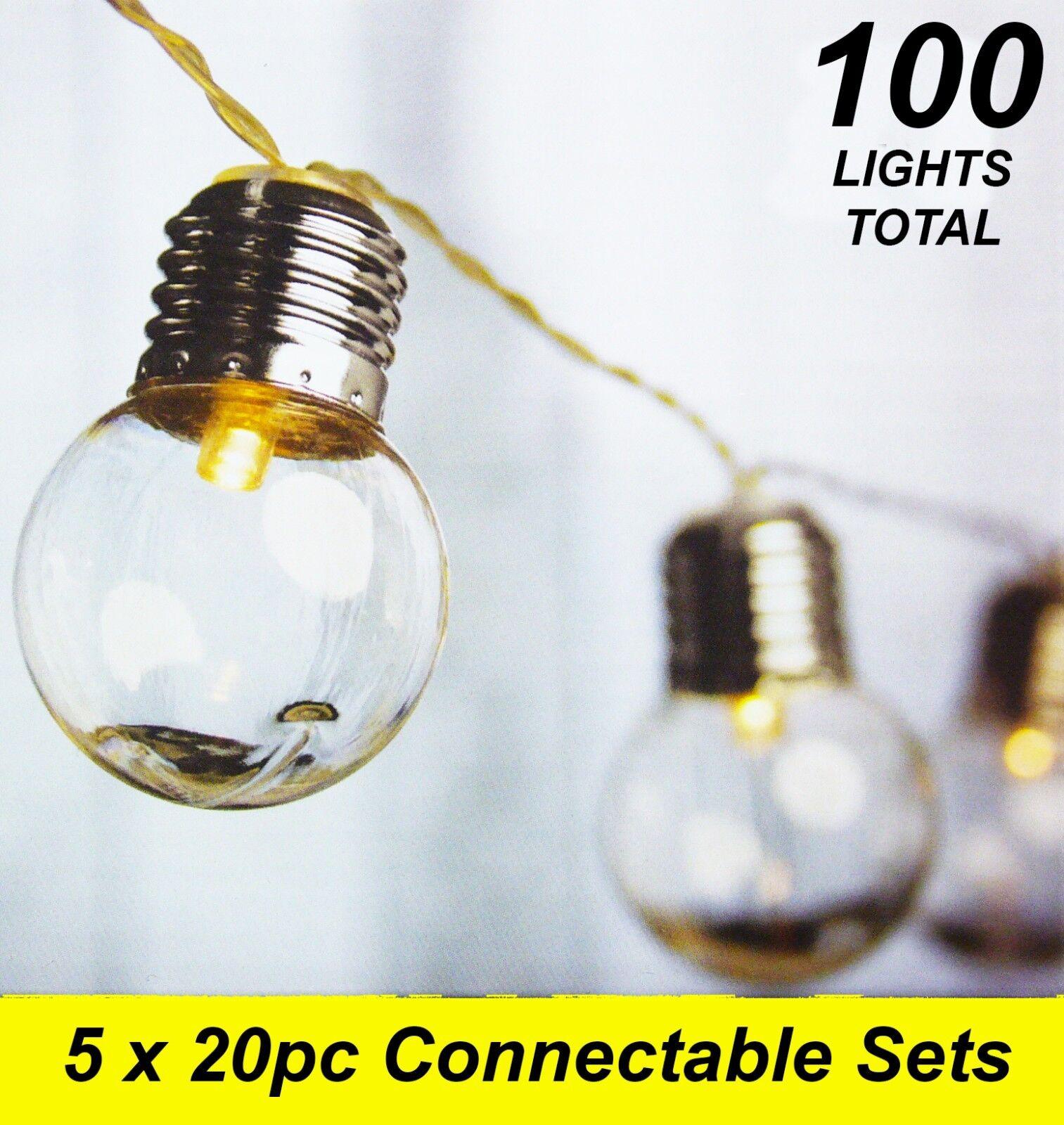 5 X Led De 20 piezas claro festoon de fiesta de luz Kit conectable