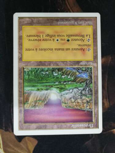 MTG Broussaille Brushland MTG 5th edition NO ENGLISH