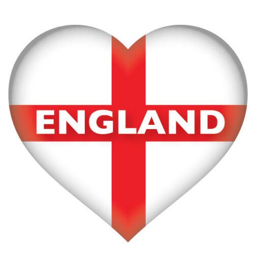 Furgoneta Etiqueta Engomada Coche 2 X corazón inglés Bandera Inglaterra