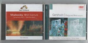 TCHAIKOVSKY-1812-OVERTURE-GERSHWIN-PORGY-amp-BESS-2-X-HMV-CLASSICS-CD-FREE-PP