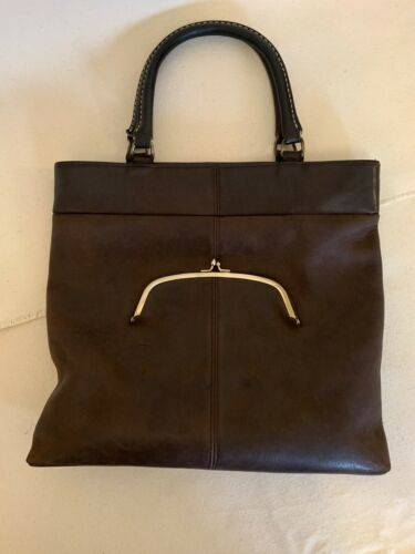 Vintage COACH BONNIE CASHIN  BROWN Tote Bag Kisslo