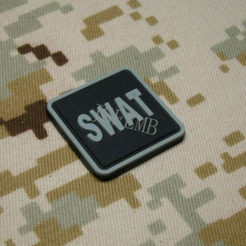 2 pieces SWAT Special Weapons and Tactics 3D PVC Patch Badges