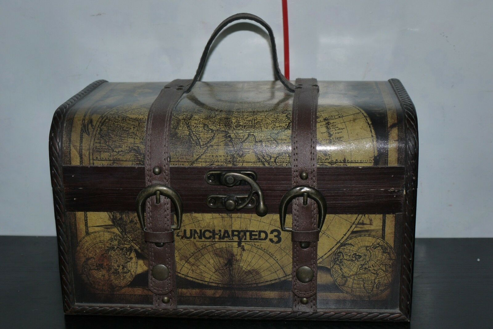 UNCHARTED 3 DRAKE'S DECEPTION EXPLORER EDITION WOODEN Chest ONLY NO CONTENTS
