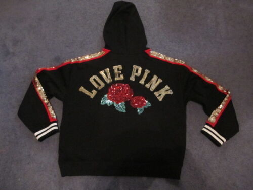 Sweat Rose Petite Bling Nwt Black Victoria's Pink Secret Roses Capuche À IHWYED92