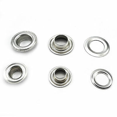 Aluminum eyelets and grommets for banners 10, 12 or 17 mm