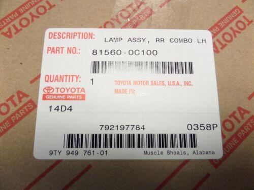 Toyota Tundra 2014-2019 Left Driver Side Rear Tail Light Lamp Genuine OEM OE