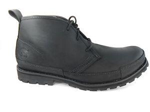 TIMBERLAND-84586-EK-BBURG-MEN-039-S-BLACK-LEATHER-BOOTS-SZ-7