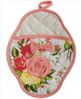 Scalloped Potholderautumn Rose Floral By Jessie Steele
