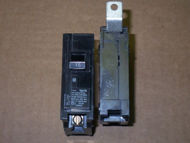 USED Siemens ITE BL115 Type BL 1 Pole 15 AMP
