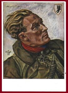 German WW 2 Third Reich postcard Hauptmann Werner Baumbach bomber pilot