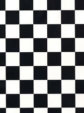 "Black and White 1.25"" Check Wallpaper WC18474"