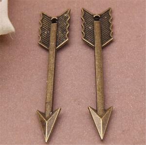 PJ740-20pc-Antique-Bronze-arrow-Pendant-Bead-Charms-accessories-wholesale
