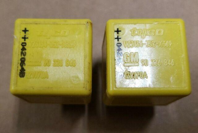 Relay Tyco GM v23134-j52-x369  90226846