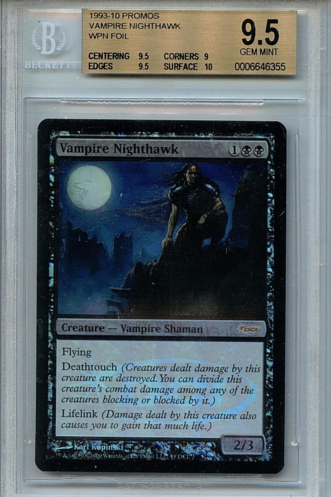 MTG Vampire Nighthawk BGS 9.5 Gem Mt WPN Promos 1993-10 Magic Foil card Amricons