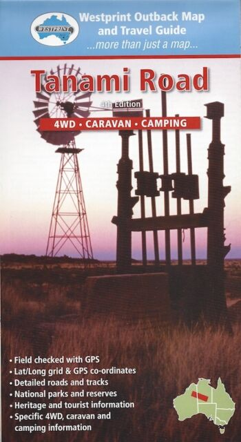 Westprint Tanami Track Map & Travel Guide *FREE SHIPPING - NEW*