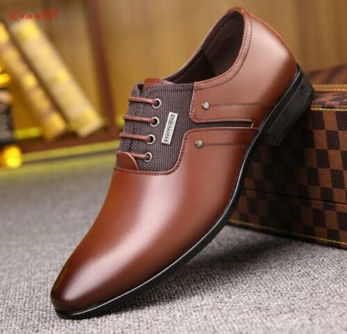 hot sale british Men/'s point toe lace up business formal casual Dress Shoes