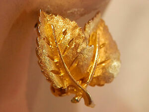Vintage 70/'s Orange /& Gold Clip ons Earrings